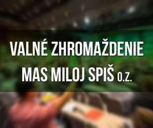 Pozvánka na Valné zhromaždenie MAS Miloj Spiš dňa 12. 12. 2017