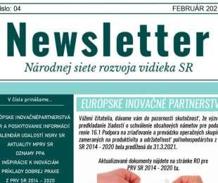 NEWSLETTER Národnej siete rozvoja vidieka SR | 04/2021