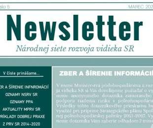 NEWSLETTER Národnej siete rozvoja vidieka SR   05/2020