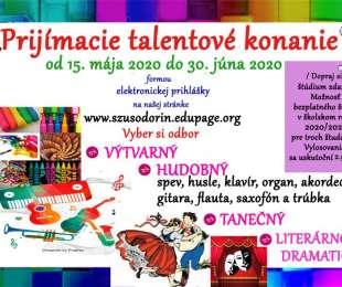 Prijímacie konanie | Súkromná základná umelecká škola Odorín | aktualizácia - do 30.6.2020