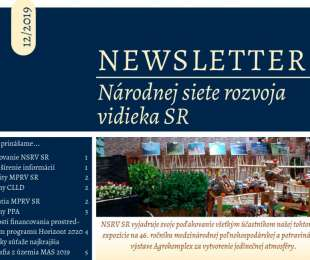 NEWSLETTER Národnej siete rozvoja vidieka SR | 12/2019