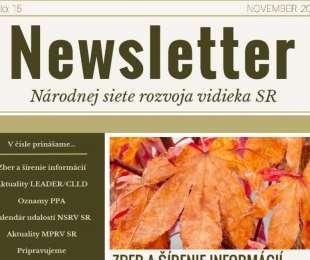 NEWSLETTER Národnej siete rozvoja vidieka SR | 15/2019
