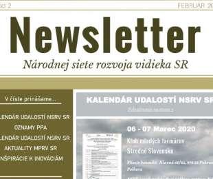 NEWSLETTER Národnej siete rozvoja vidieka SR   02/2020