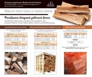 Ponuka predaja štiepaného dreva | Pozemkové spoločenstvo, Bývalý urbariát Hrabušice