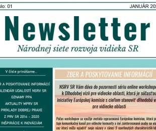 NEWSLETTER Národnej siete rozvoja vidieka SR | 01/2021