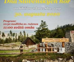 Deň Slovenských hôr - Kláštorisko - areál Kartuziánskeho Kláštora - Slovenský raj   30.8.2020