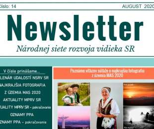 NEWSLETTER Národnej siete rozvoja vidieka SR   14/2020