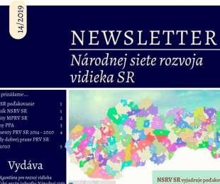 NEWSLETTER Národnej siete rozvoja vidieka SR | 14/2019