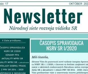 NEWSLETTER Národnej siete rozvoja vidieka SR   17/2020